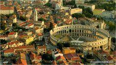 Piękne miasto z charakterem oraz przepięknym amfiteatrem w stylu i wzorowanego na Colloseum w Rzymie - to Pula w Chorwacji (w regionie Istria) http://miasta.pw/chorwacja/pula #chorwacja #pula #istria #croatia