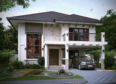 Hmmm Zen House Design, 2 Storey House Design, Simple House Design, Bungalow House Design, Simple House Exterior, Modern Exterior House Designs, Modern Zen House, Small Modern Home, Philippines House Design