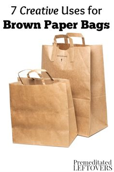 Do you have a stack of paper grocery bags building up at home? Put them to use or find others who can with these 7 Creative Uses for Brown Paper Bags. DIY idea and simple life hacks.