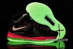 b8e667f4ab8 Lebron 10 Womens Black Red Green Silver TopDeals