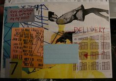 collaged envelope mail art