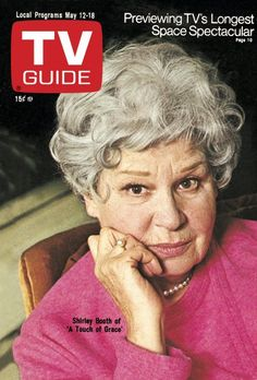 4/27/15  9:45p  TV Guide Mag  Cover May 12-18/1973 Shirley Booth  ''A Touch of Grace''  ABC  Short Lived Series tvguidemagazine.com