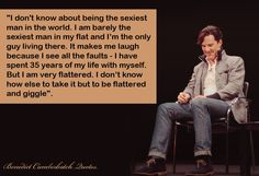 He might very well be the only man alive that knows EXACTLY how nerdy girls feel ALL the time. ♥