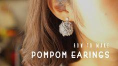 폼폼귀걸이 만들기_how to make  pom pom earings