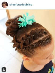 Dutch braid and pull through braid to messy bun Lil Girl Hairstyles, Easy Hairstyles For Kids, Braided Hairstyles, School Hairstyles, Braided Ponytail, Updo Hairstyle, Everyday Hairstyles, Prom Hairstyles, Hairdos