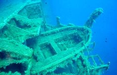 This is famous wreck of the Zenobia, a Swedish Ship on the shores of Cyprus