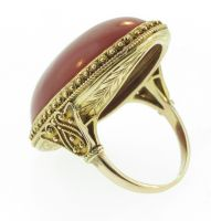 1STDIBS.COM Jewelry & Watches - Marcus & Co. - MARCUS & CO. Coral Yellow Gold Ring - Pampillonia