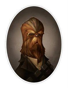 Chewbacca: Victorian Star Wars Portraits