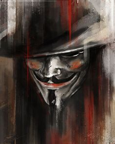 """""""A Man in a Mask"""".inspired by the film V for Vendetta Comic Books Art, Comic Art, Comic Movies, V Pour Vendetta, Ideas Are Bulletproof, Kreative Portraits, Hacker Wallpaper, Joker Wallpapers, Guy Fawkes"""
