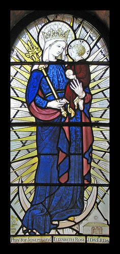 Virgin & Child window by Sir Ninian Comper at the Anglican shrine, Walsingham.