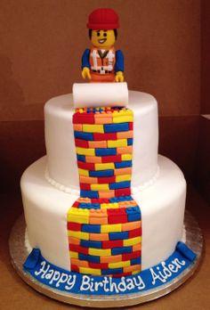 Lego Movie Themed Custom Birthday Cake Lego Movie Cake, Movie Cakes, Lego Cake, Custom Birthday Cakes, Birthday Cake Girls, Minion Cupcakes, Cupcake Cakes, Lego City Birthday, Lego Themed Party