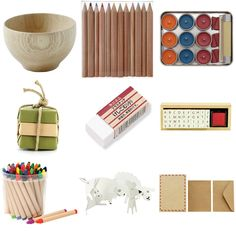 muji various products    like the eraser and stamps the most    clean, uplifting
