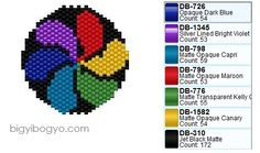 Bigyibogyó: Color Swirl (this would be a great way to do delica colour charts. Attractive and practical.)