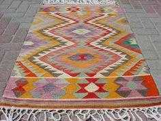 """VINTAGE Turkish Kilim / Area Rug Carpet, Handwoven Kilim Rug,Antique Kilim Rug,Decorative Kilim, Natural Wool  30,3"""" X 49,6"""""""