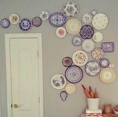 Britten Harmon's plate wall.