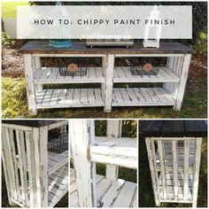 We show you how to get the Chippy Paint Finish! You wont believe how easy it is!  Get ready to create a finish on your furniture that will set your space off! W…