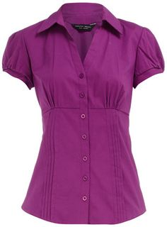 Purple pintuck work shirt - great way to add a pop of color at the office Shirt Outfit, Shirt Dress, Work Shirts, Pin Tucks, Blouse Styles, Playing Dress Up, Work Wear, What To Wear, Lds Mission