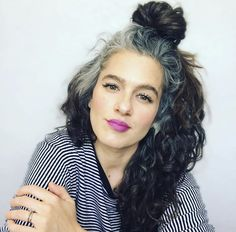 Grey White Hair, Long Gray Hair, Blonde Hair With Highlights, Brown Blonde Hair, Grey Hair Inspiration, Grey Hair Don't Care, Curly Hair Styles, Natural Hair Styles, Gray Hair Growing Out