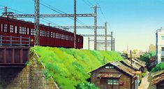 High res wallpapers from Up on Poppy Hill Studio Ghibli Background, Animation Background, Takayama, Tales From Earthsea, Up On Poppy Hill, The Cat Returns, Studio Ghibli Art, Academic Art, Ghibli Movies