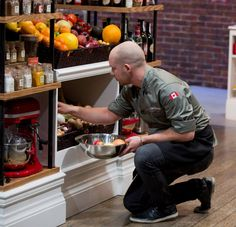 Chef Trevor does a little grocery shopping in our Chopped Canada pantry.