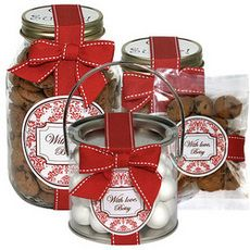 Cute idea using jar, ribbon, and tag