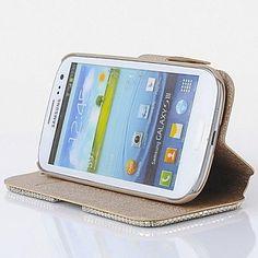 mode kristal diamant lederen camelia full body case met standaard voor Samsung Galaxy S3 i9300 – EUR € 9.49