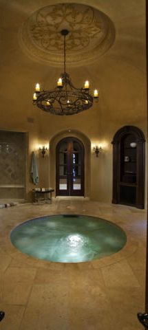 jacuzzi (I want one ... right now! LOL) I luv the  tub part but not really the rest its a tad too chilly The sauna would b in the same room