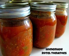 Homemade Rotel. Made this yesterday and canned it all. I just copied most of the ingredients on the jar. Turned out fantastic. Super fresh! Perfect Salsa too.
