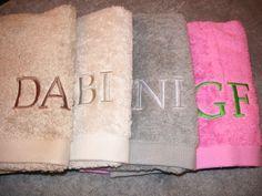 Asciugamani per gli ospiti di casa personalizzati con Iniziali .