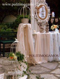 Στολισμός βάπτισης σε ρομαντικό τόνο | Ανθοδιακοσμήσεις | Χειροποίητες μπομπονιέρες και προσκλητήρια | Είδη γάμου και βάπτισης | Politimogamos.gr