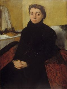 Portrait of Joséphine Gaujelin - Edgar Degas, French, 1867. Yellow Room # P1e4 Isabella Stewart Gardner Museum, Boston MA. http://www.gardnermuseum.org/