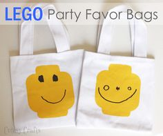 Planning a LEGO party?? I created the cutest LEGO party favor bags that are so fun for the kids to decorate. Perfect for a birthday party or any celebration!