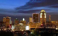 Des Moines, Iowa - Love this city, it's where I went to college, where I got married, and in the state where most of my extended family lives...love, love, love!