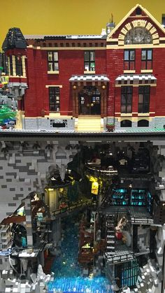 Tens of thousands of LEGO bricks were used in this custom build.