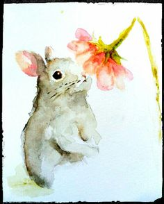 Bunny and sweet flower