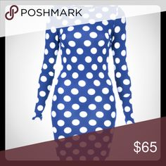 Topshop Polka Dot Bodycon Dress Navy and White Polka Dot Dress Topshop Dresses