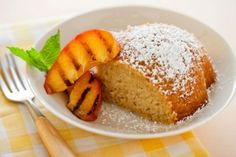 Lemon Olive Oil Cake with Grilled Nectarines