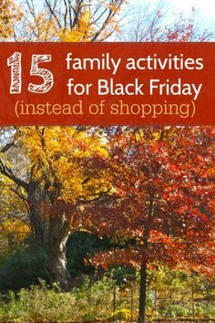 Family time ideas for Black Friday! Much better than shopping at crowded malls.