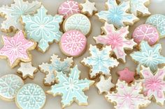 pastel holiday cookies