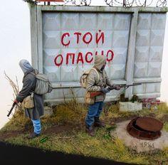 S.T.A.L.K.E.R Diorama 1/35 scale by Sergey Traviansky. #Post_Apocalyptic #diorama #vignettes
