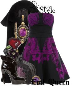"""Disney Style : Evil Queen"" by missm26 ❤ liked on Polyvore"