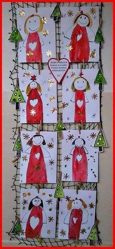 přání ANDÍLEK / Zboží prodejce gagaga   Fler.cz Christmas Angel Crafts, Christmas Art For Kids, Christmas Art Projects, Christmas Activities For Kids, Winter Crafts For Kids, Christmas Love, Winter Christmas, Christmas Crafts, Christmas Decorations