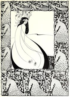"Aubrey Beardsley (1872-1898), 'Salomé', ""Fifty Drawings by Aubrey Beardsley"", 1920 Source"