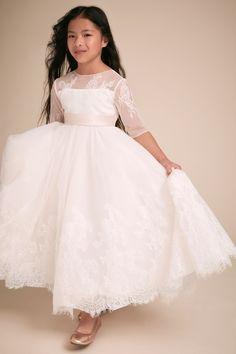 10dec5f19 BHLDN's Carling Dress in Ivory/petal. Pretty Flower Girl DressesPrincess ...