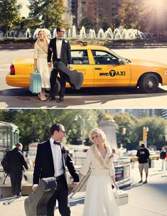 Vintagey engagement pictures in New York.  Inspired!