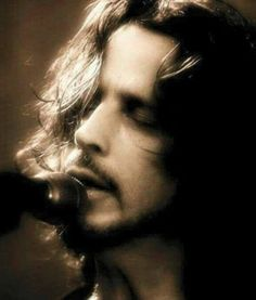 "Chris Cornell....There's Not too many Men yo can call Beautiful❤....But this photo of Chris...is ""Truly Beautiful❤""  & still So Sad"