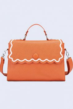 orange cute bag