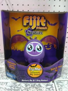 Fijit Friends Newbies Halloween BAT Figure PURPLE TRICK or TREAT TIA - LIMITED EDITION! by MATTEL. $11.63. Fijit Friends Newbies, everyone's pint-sized singing friends, are dressed up for Halloween with classic bat themes! Nurture Fijit Friends Newbies to get them to sing. The more they are nurtured, the better they perform, and when two Fijit Friends Newbies are put together, they'll sing together in a duet.