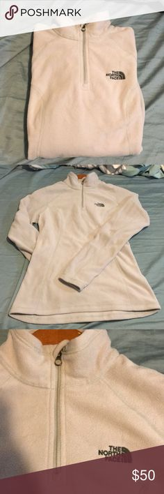 NWOT North Face fleece Brand new/ never worn/ no tags/ half zip/ color/ light gray/ the north face logo on upper left chest/ The North Face Jackets & Coats