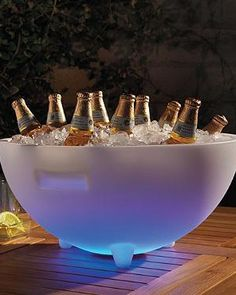 The Lighted Beverage Tub is the ideal beverage cooling solution for those fun pool parties that last into the night.